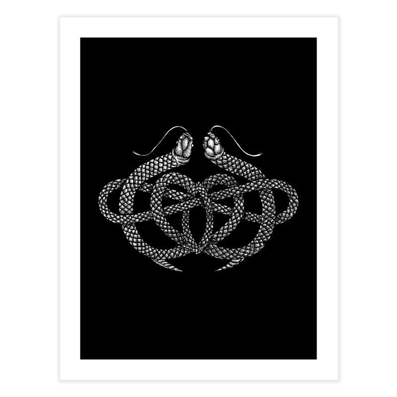 snake me knot Home Fine Art Print by Sp3ktr's Artist Shop