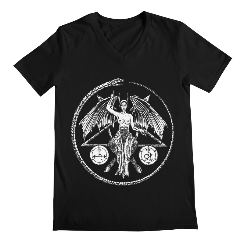 Baphomet Men's V-Neck by Sp3ktr's Artist Shop