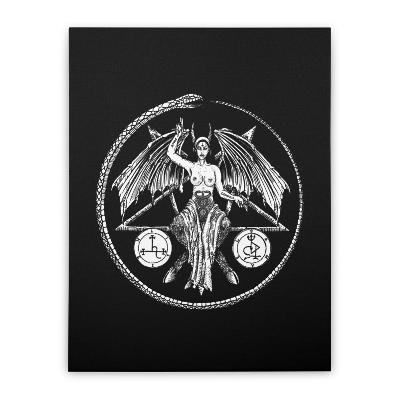 Baphomet Home Stretched Canvas by Sp3ktr's Artist Shop