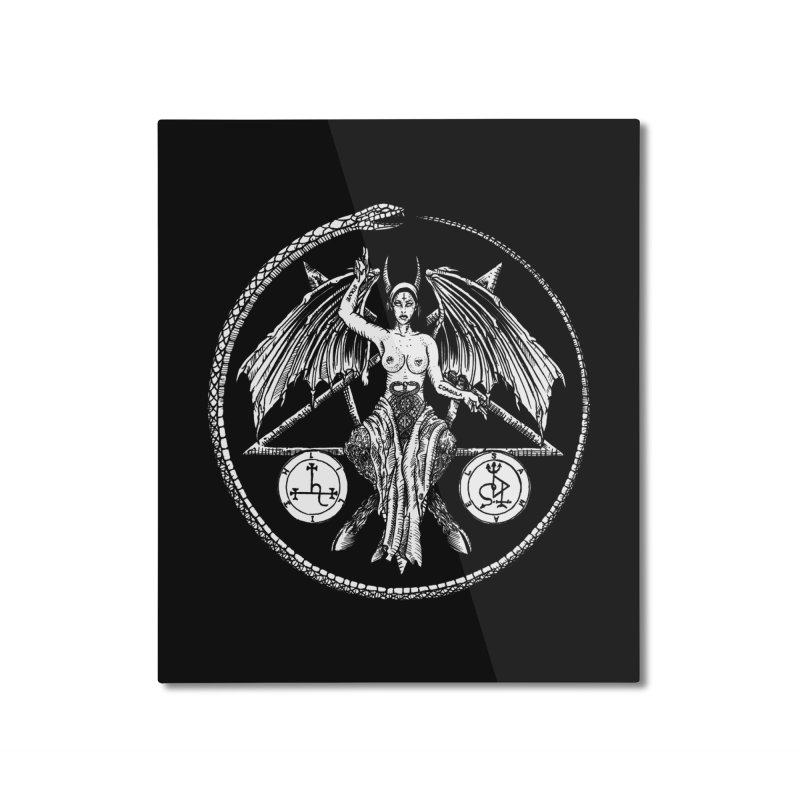 Baphomet Home Mounted Aluminum Print by Sp3ktr's Artist Shop