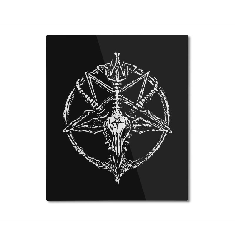 BAPHOMET_SIGIL Home Mounted Aluminum Print by Sp3ktr's Artist Shop