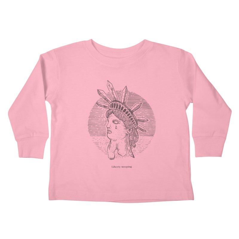 Liberty is Weeping Kids Toddler Longsleeve T-Shirt by Sp3ktr's Artist Shop