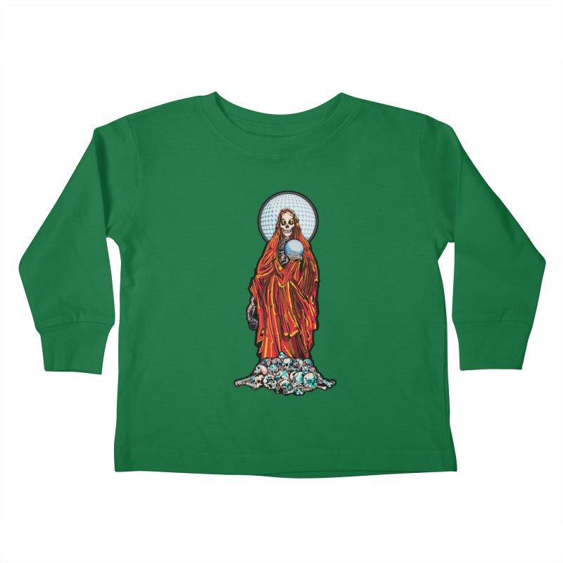 Santa Muerte The Disco Destroyer Kids Toddler Longsleeve T-Shirt by Sp3ktr's Artist Shop