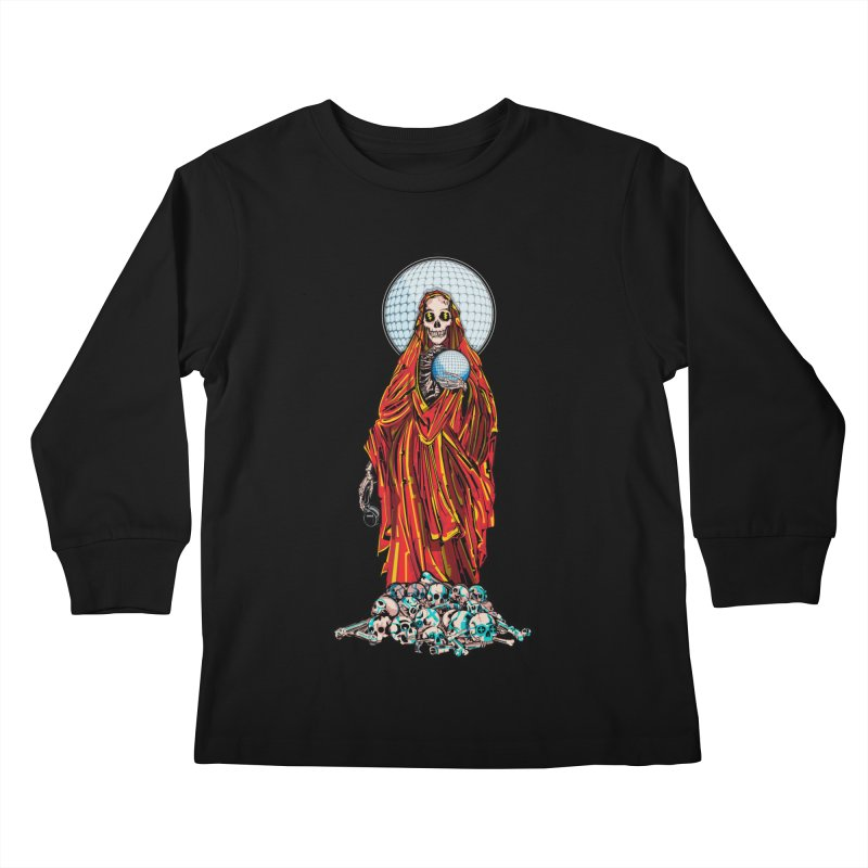 Santa Muerte The Disco Destroyer Kids Longsleeve T-Shirt by Sp3ktr's Artist Shop