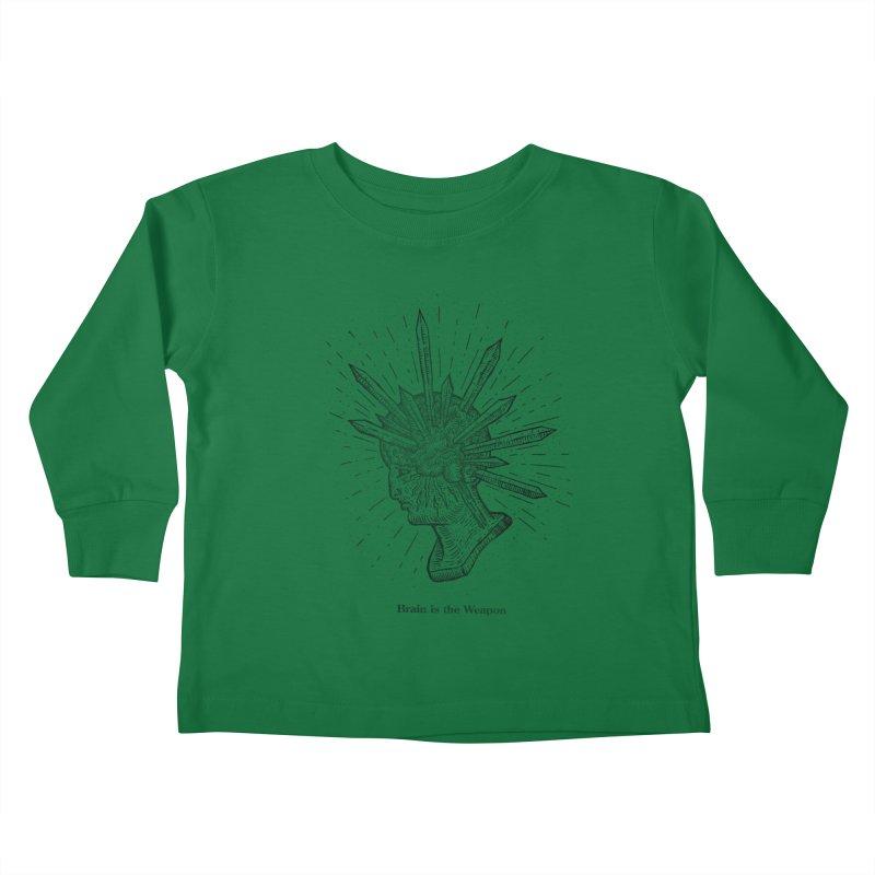Brain is the Weapon Kids Toddler Longsleeve T-Shirt by sp3ktr's Artist Shop