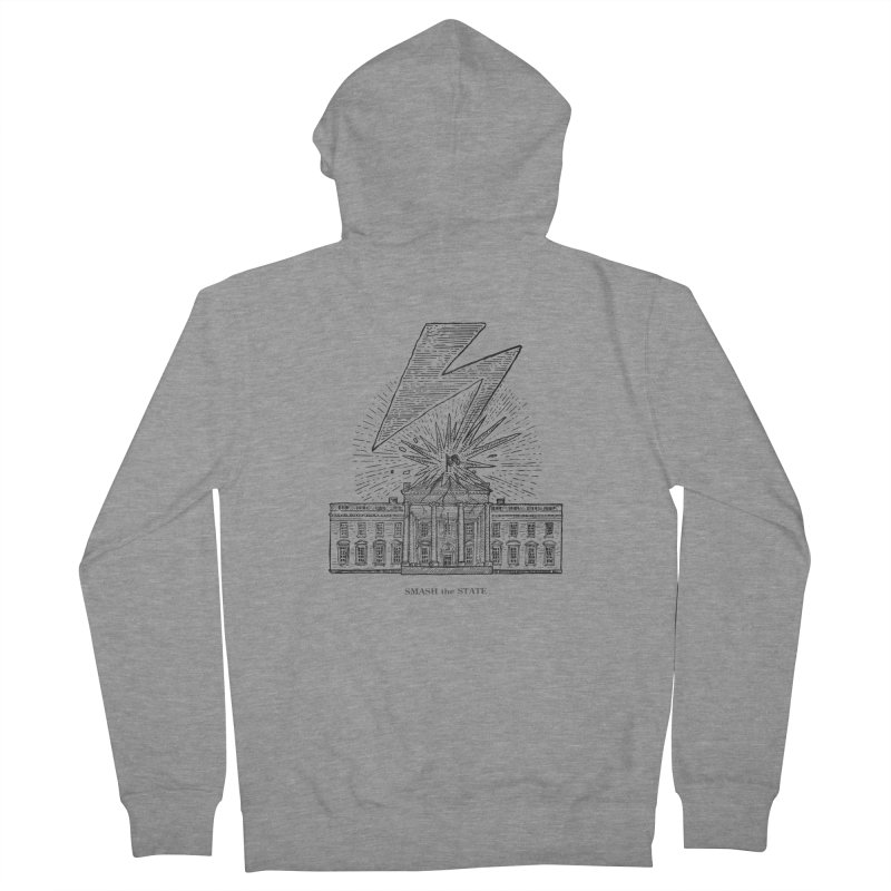 Smash The State Women's French Terry Zip-Up Hoody by Sp3ktr's Artist Shop
