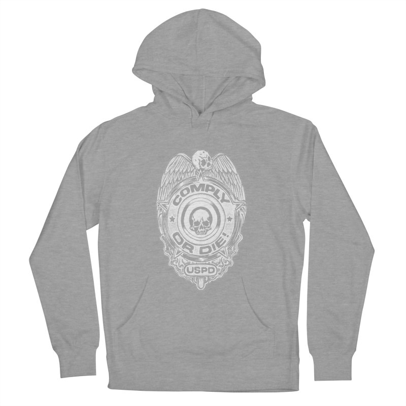 Comply or Die white Men's French Terry Pullover Hoody by Sp3ktr's Artist Shop