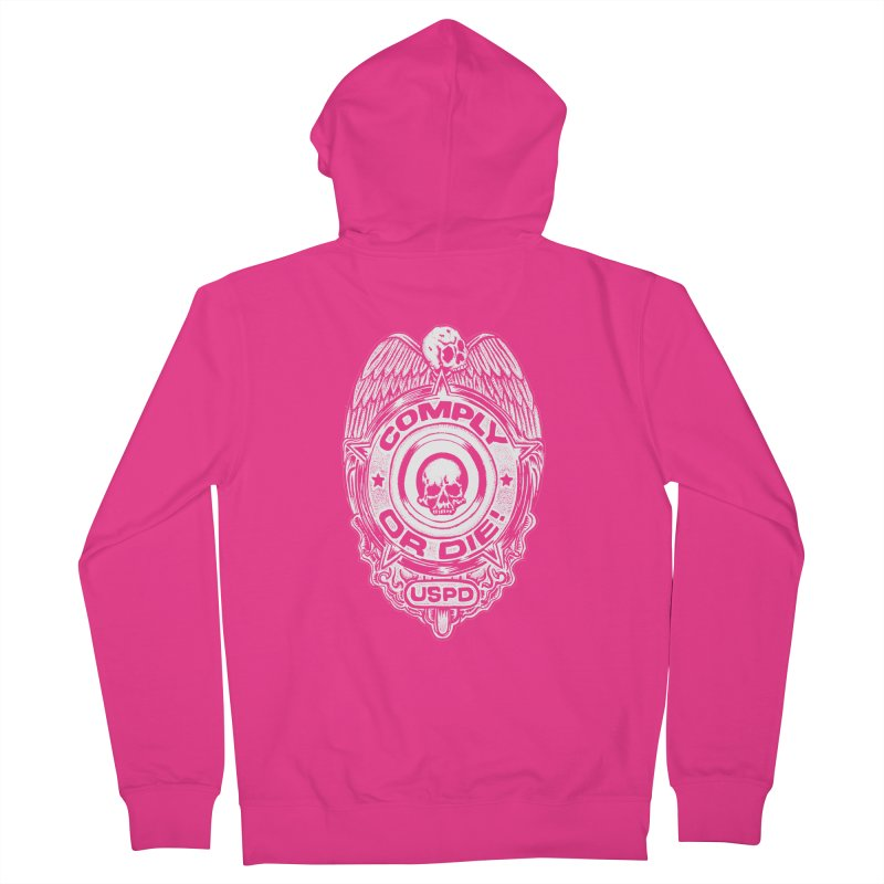 Comply or Die white Men's French Terry Zip-Up Hoody by Sp3ktr's Artist Shop