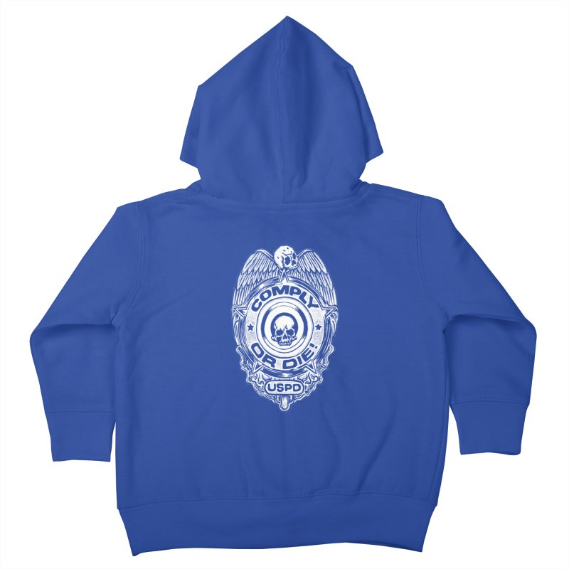 Comply or Die white Kids Toddler Zip-Up Hoody by Sp3ktr's Artist Shop