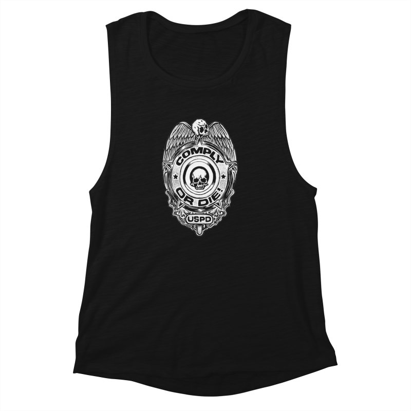 Comply or Die white Women's Muscle Tank by Sp3ktr's Artist Shop