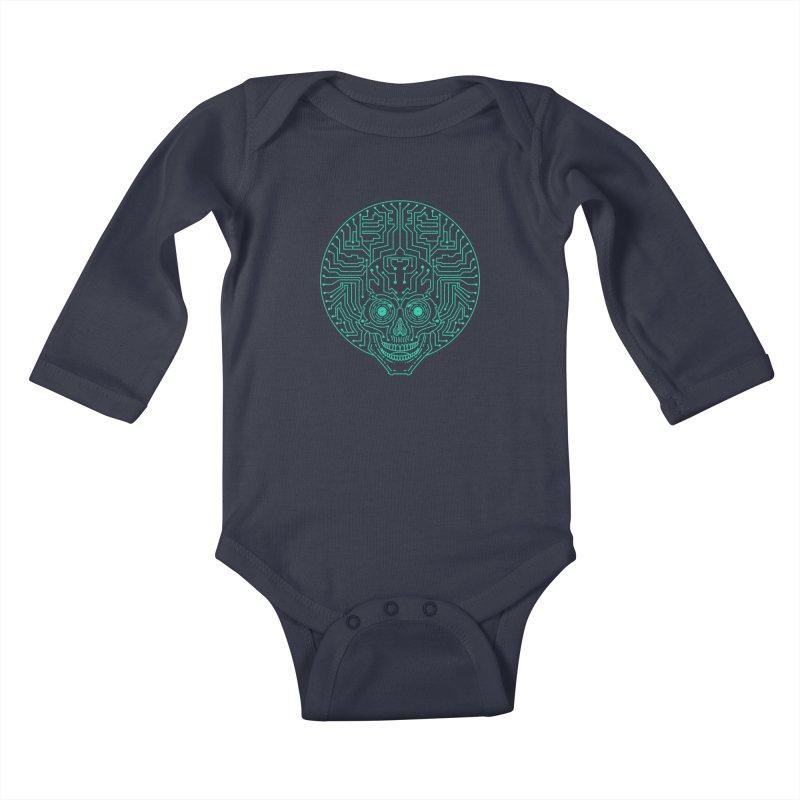 Neuro Funk Express Kids Baby Longsleeve Bodysuit by Sp3ktr's Artist Shop