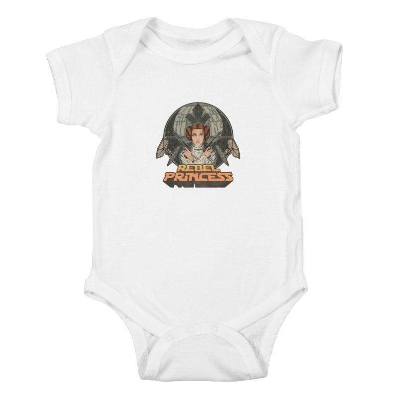 Rebel Space Princess Kids Baby Bodysuit by Sp3ktr's Artist Shop