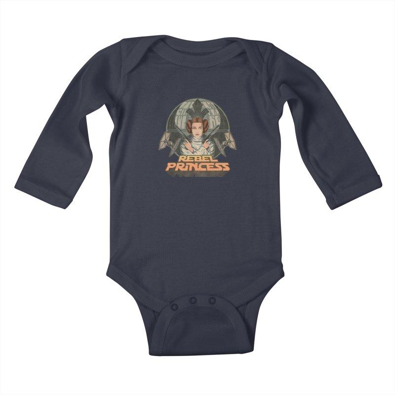 Rebel Space Princess Kids Baby Longsleeve Bodysuit by Sp3ktr's Artist Shop