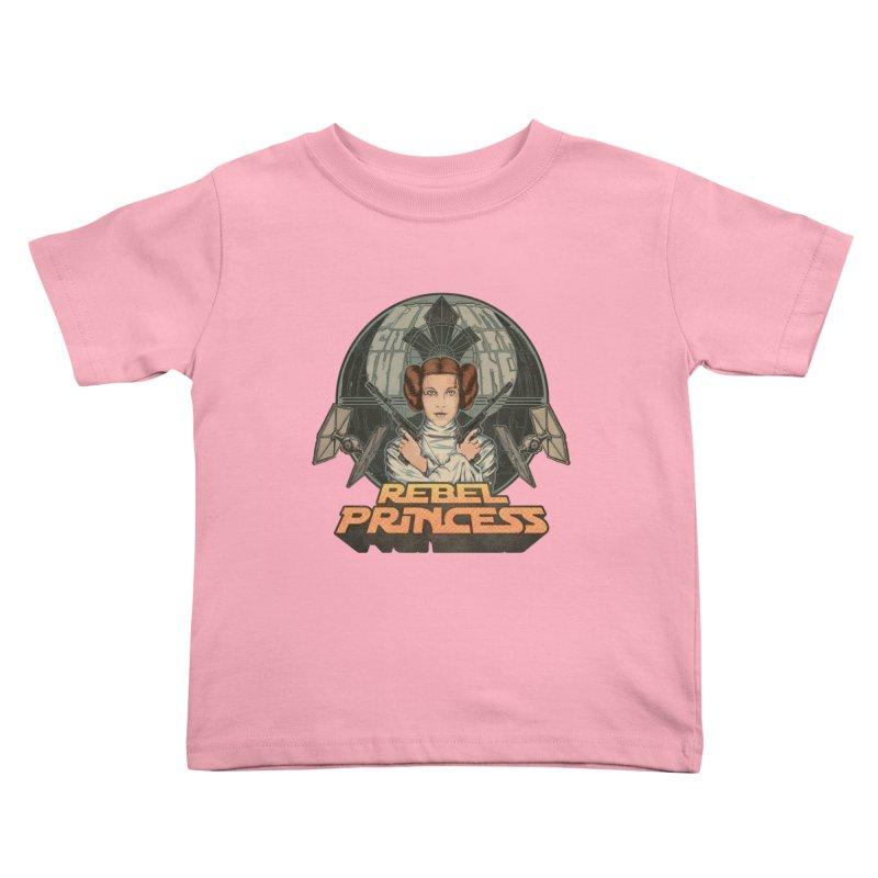 Rebel Space Princess Kids Toddler T-Shirt by sp3ktr's Artist Shop