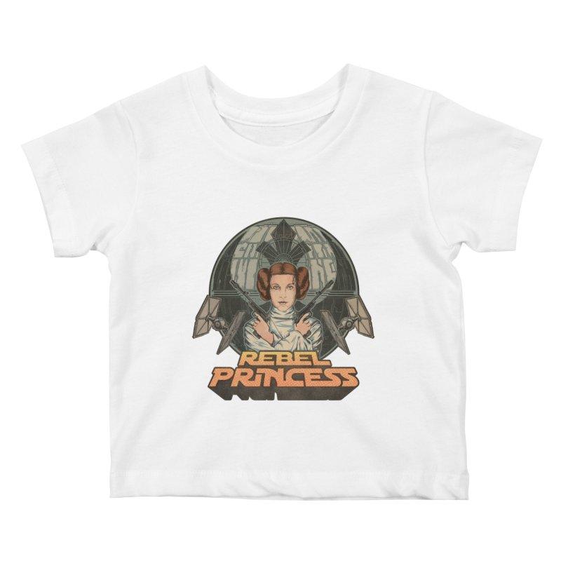 Rebel Space Princess Kids Baby T-Shirt by Sp3ktr's Artist Shop