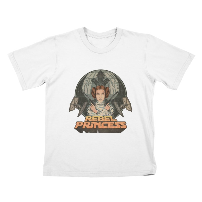 Rebel Space Princess Kids T-Shirt by Sp3ktr's Artist Shop