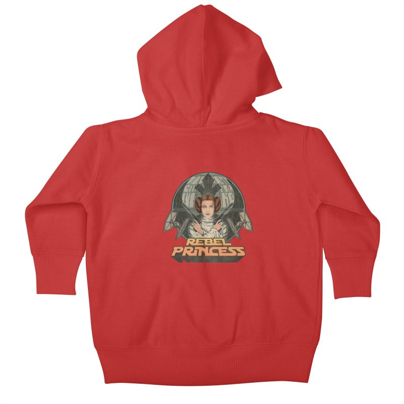 Rebel Space Princess Kids Baby Zip-Up Hoody by Sp3ktr's Artist Shop