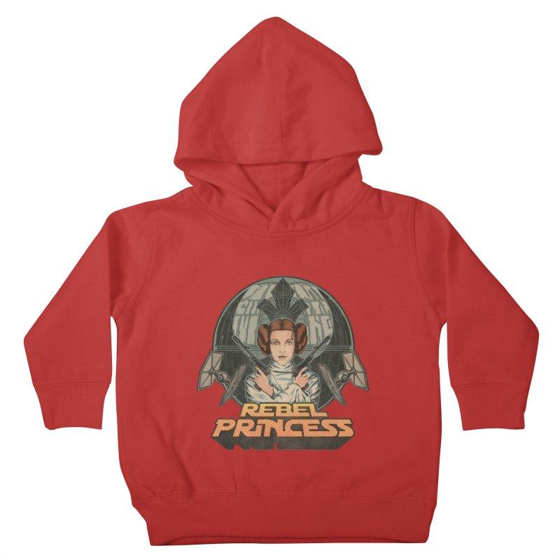 Rebel Space Princess Kids Toddler Pullover Hoody by sp3ktr's Artist Shop