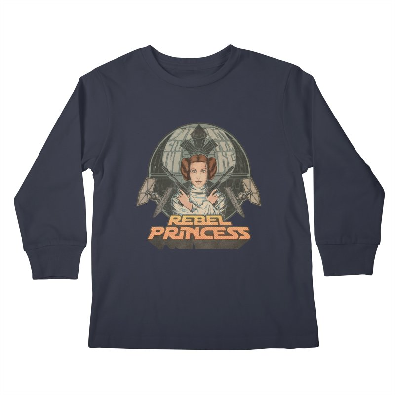 Rebel Space Princess Kids Longsleeve T-Shirt by Sp3ktr's Artist Shop