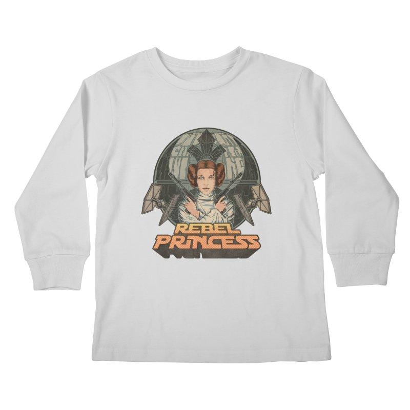 Rebel Space Princess Kids Longsleeve T-Shirt by Sp3ktr's Artist Shop