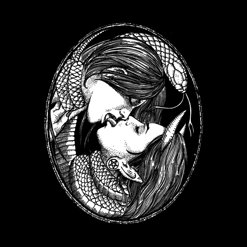 snakekiss Women's Longsleeve T-Shirt by Sp3ktr's Artist Shop
