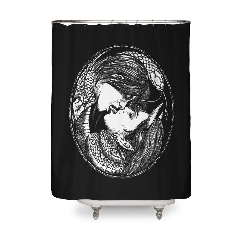 snakekiss Home Shower Curtain by Sp3ktr's Artist Shop