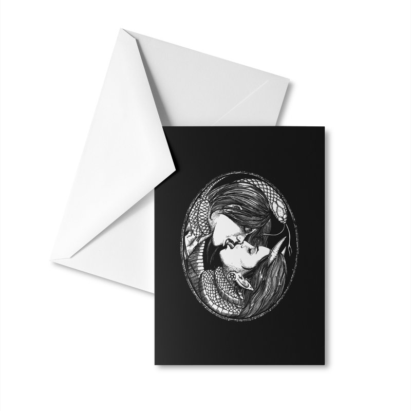 snakekiss Accessories Greeting Card by Sp3ktr's Artist Shop