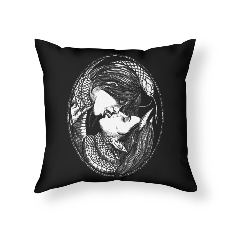 snakekiss Home Throw Pillow by Sp3ktr's Artist Shop