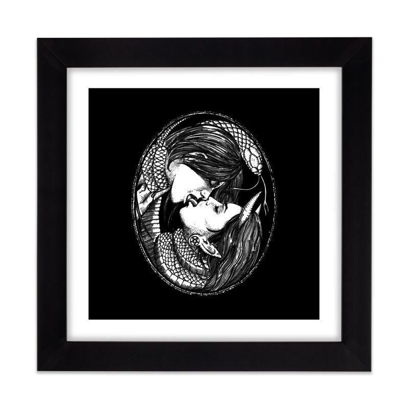 snakekiss Home Framed Fine Art Print by Sp3ktr's Artist Shop