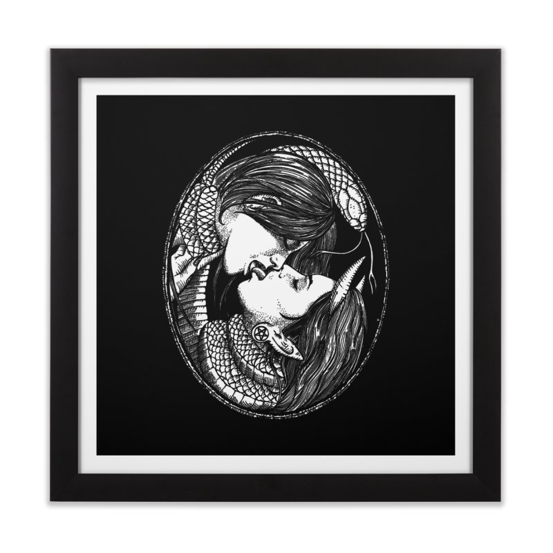 snakekiss Home Framed Fine Art Print by Sp3ktr's Artist Shop