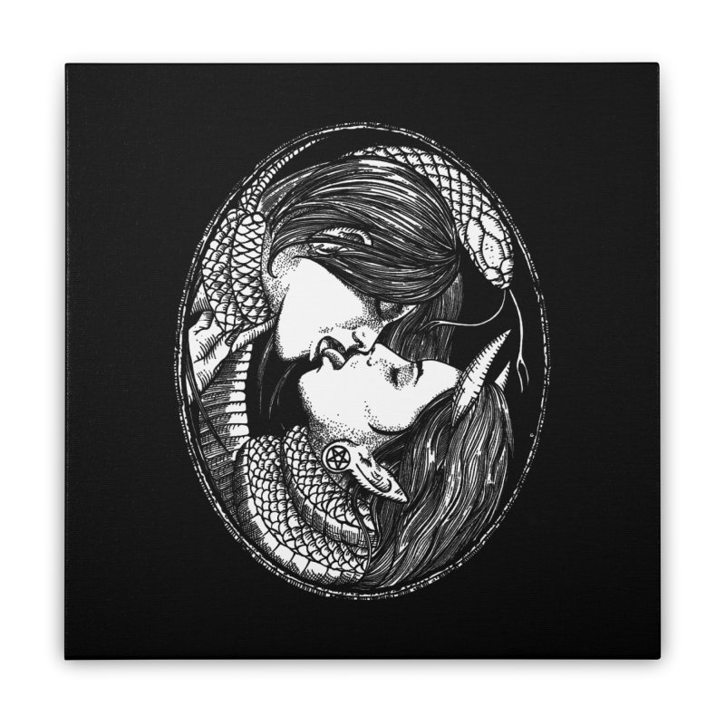snakekiss Home Stretched Canvas by Sp3ktr's Artist Shop