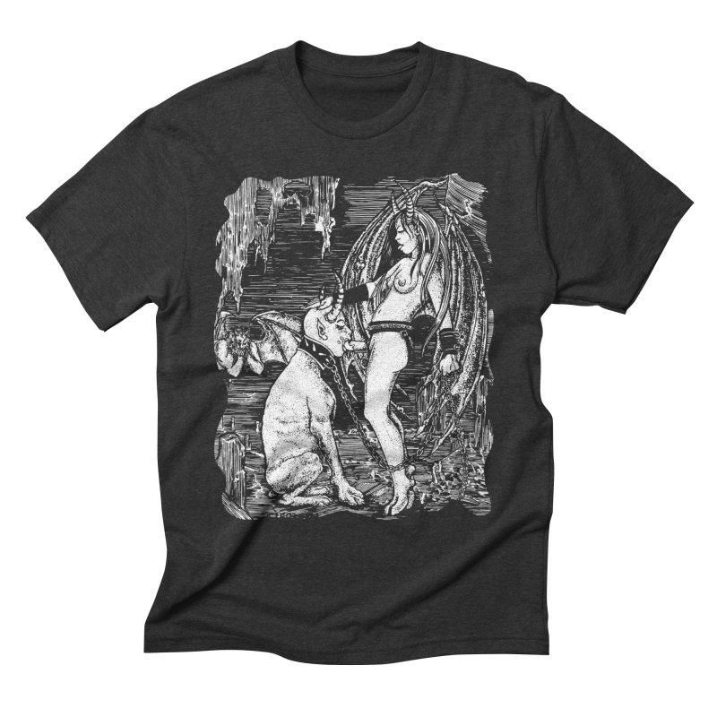 give a dog a bone Men's T-Shirt by Sp3ktr's Artist Shop