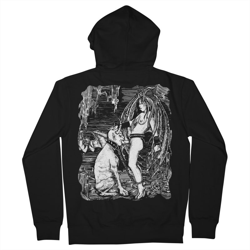 give a dog a bone Men's Zip-Up Hoody by Sp3ktr's Artist Shop