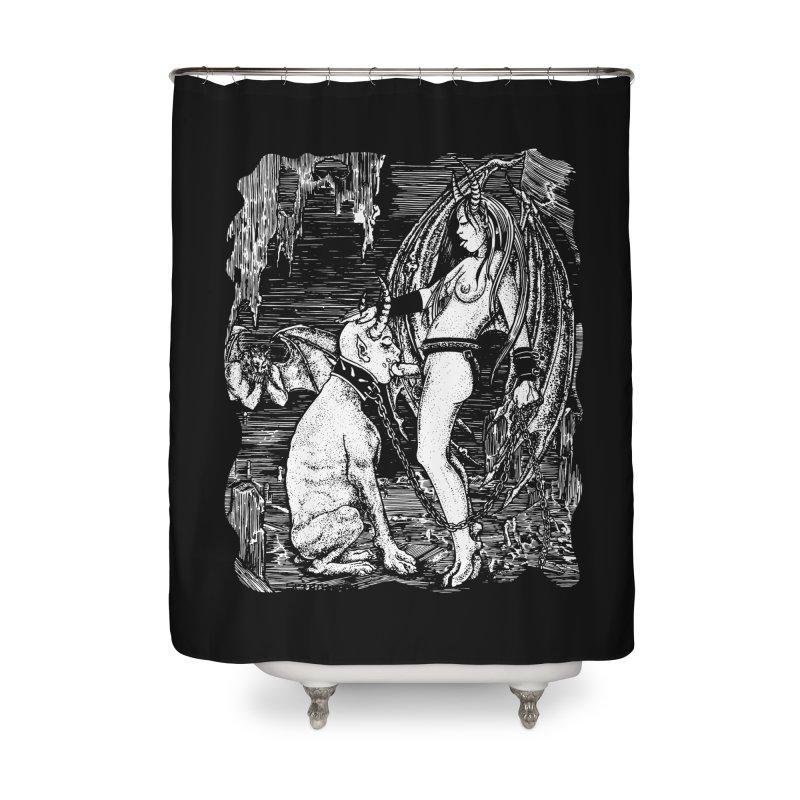 give a dog a bone Home Shower Curtain by Sp3ktr's Artist Shop