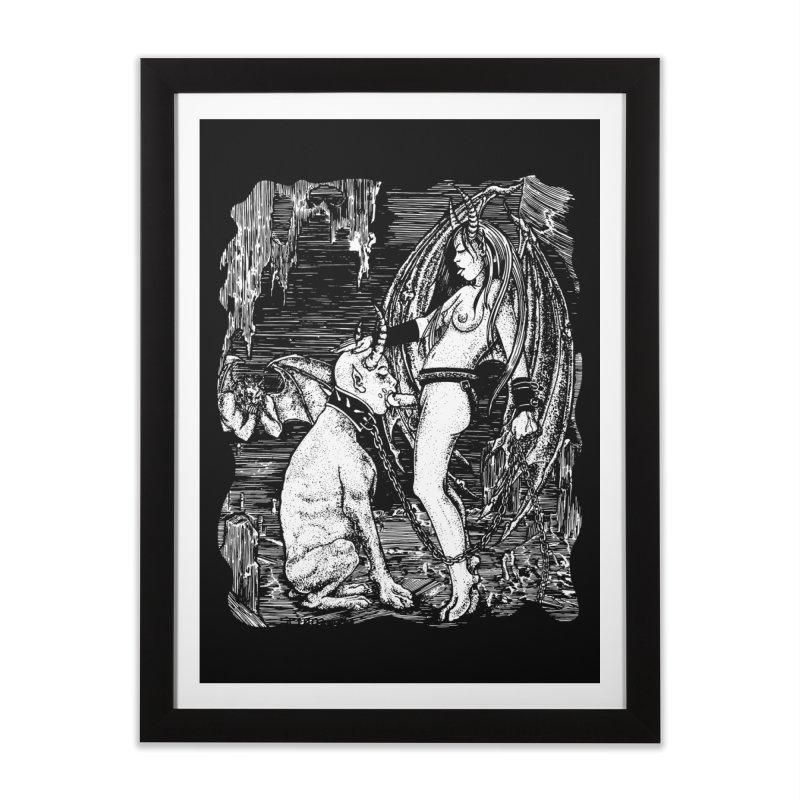 give a dog a bone Home Framed Fine Art Print by Sp3ktr's Artist Shop
