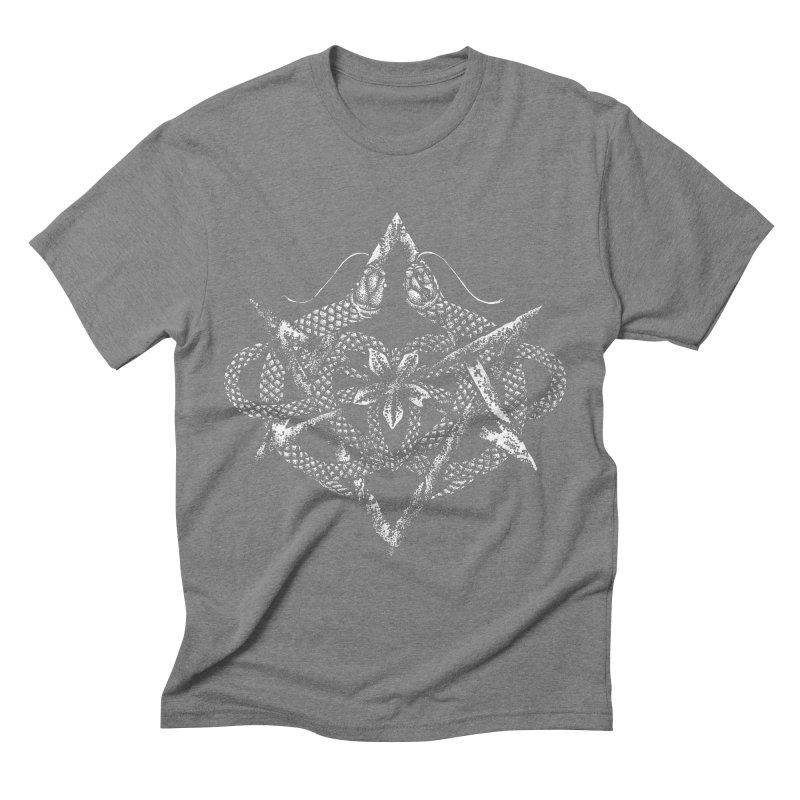 unicursal snake Men's T-Shirt by Sp3ktr's Artist Shop