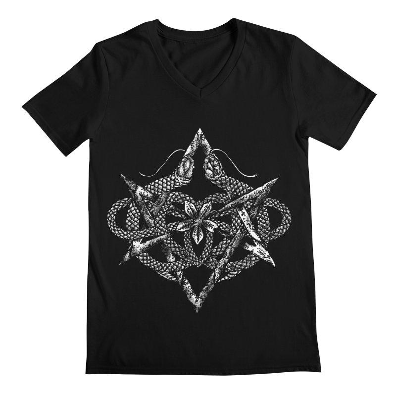 unicursal snake Men's V-Neck by Sp3ktr's Artist Shop