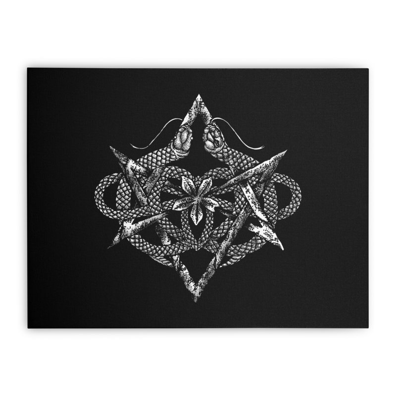 unicursal snake Home Stretched Canvas by Sp3ktr's Artist Shop