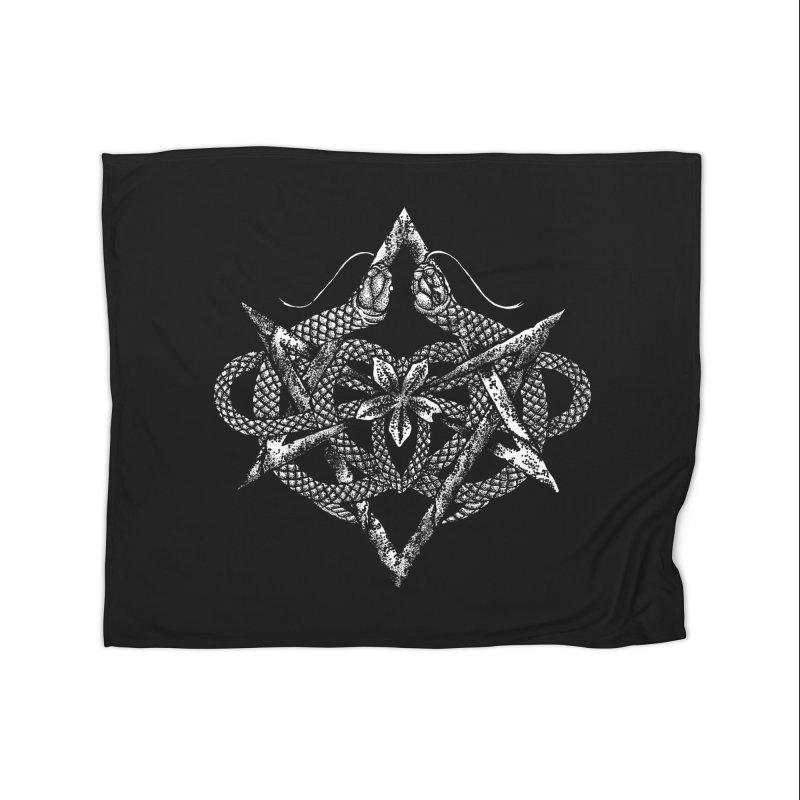 unicursal snake Home Blanket by Sp3ktr's Artist Shop