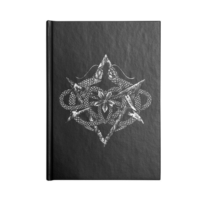 unicursal snake Accessories Notebook by Sp3ktr's Artist Shop
