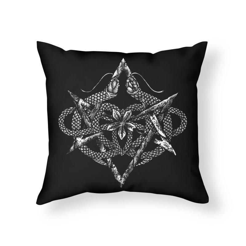 unicursal snake Home Throw Pillow by Sp3ktr's Artist Shop