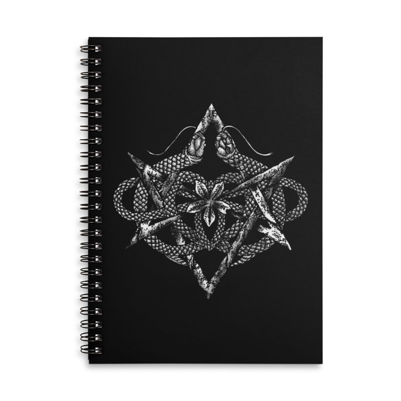 unicursal snake Accessories Notebook by Sp3ktr's Artist Shop