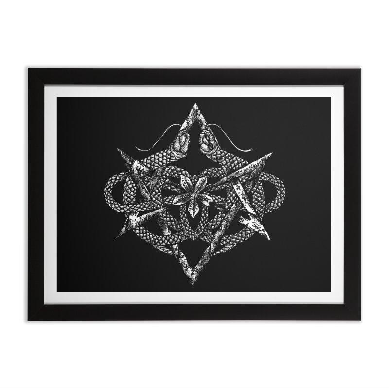 unicursal snake Home Framed Fine Art Print by Sp3ktr's Artist Shop