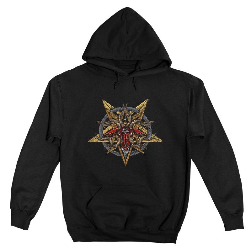 devil-satanic-hornedgod-demonic-blackmetal-punkrock-occulr Men's Pullover Hoody by Sp3ktr's Artist Shop