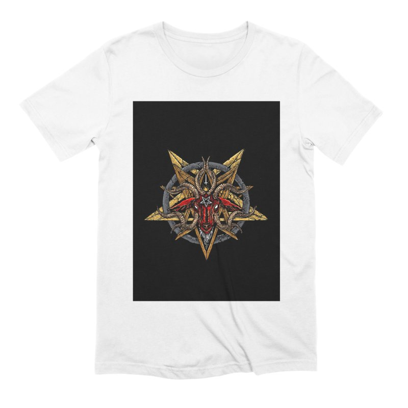 devil-satanic-hornedgod-demonic-blackmetal-punkrock-occult-tapestry Men's T-Shirt by Sp3ktr's Artist Shop