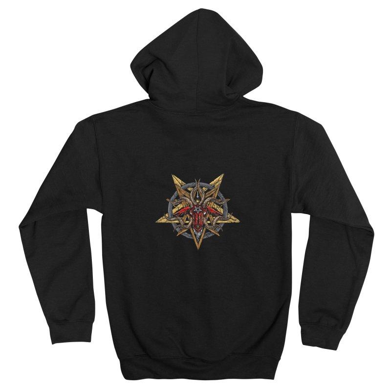 devil-satanic-hornedgod-demonic-blackmetal-punkrock-occult-tapestry Men's Zip-Up Hoody by Sp3ktr's Artist Shop