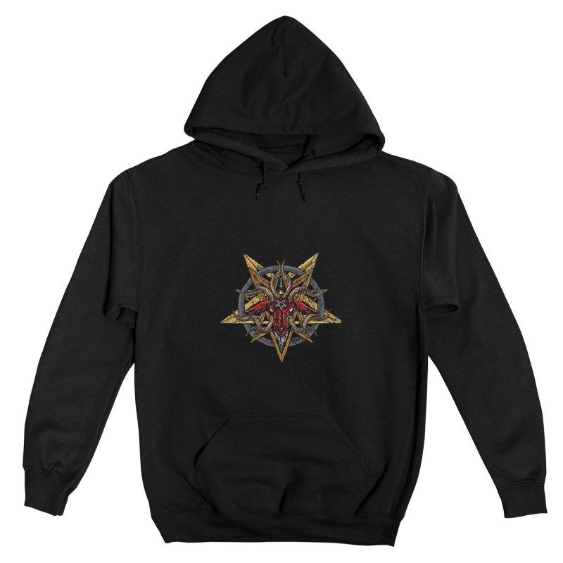 devil-satanic-hornedgod-demonic-blackmetal-punkrock-occult-tapestry Men's Pullover Hoody by Sp3ktr's Artist Shop