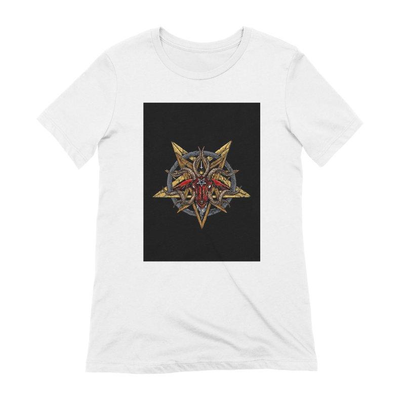 devil-satanic-hornedgod-demonic-blackmetal-punkrock-occult-tapestry Women's T-Shirt by Sp3ktr's Artist Shop