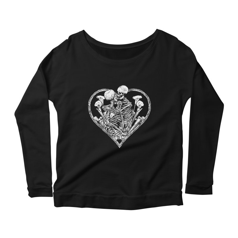 wanna bone? Women's Scoop Neck Longsleeve T-Shirt by Sp3ktr's Artist Shop