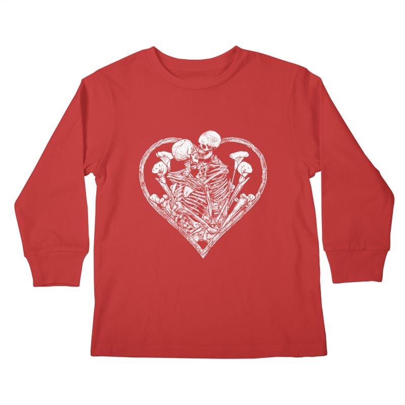 wanna bone? Kids Longsleeve T-Shirt by Sp3ktr's Artist Shop